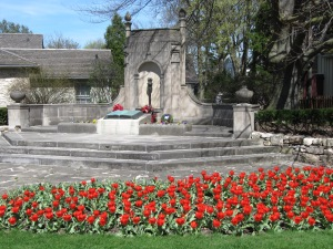 the Monument at McCrae House and part of the gardens
