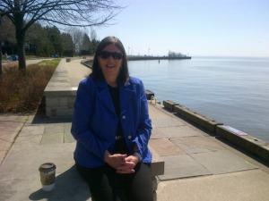 basking by Lake Ontario